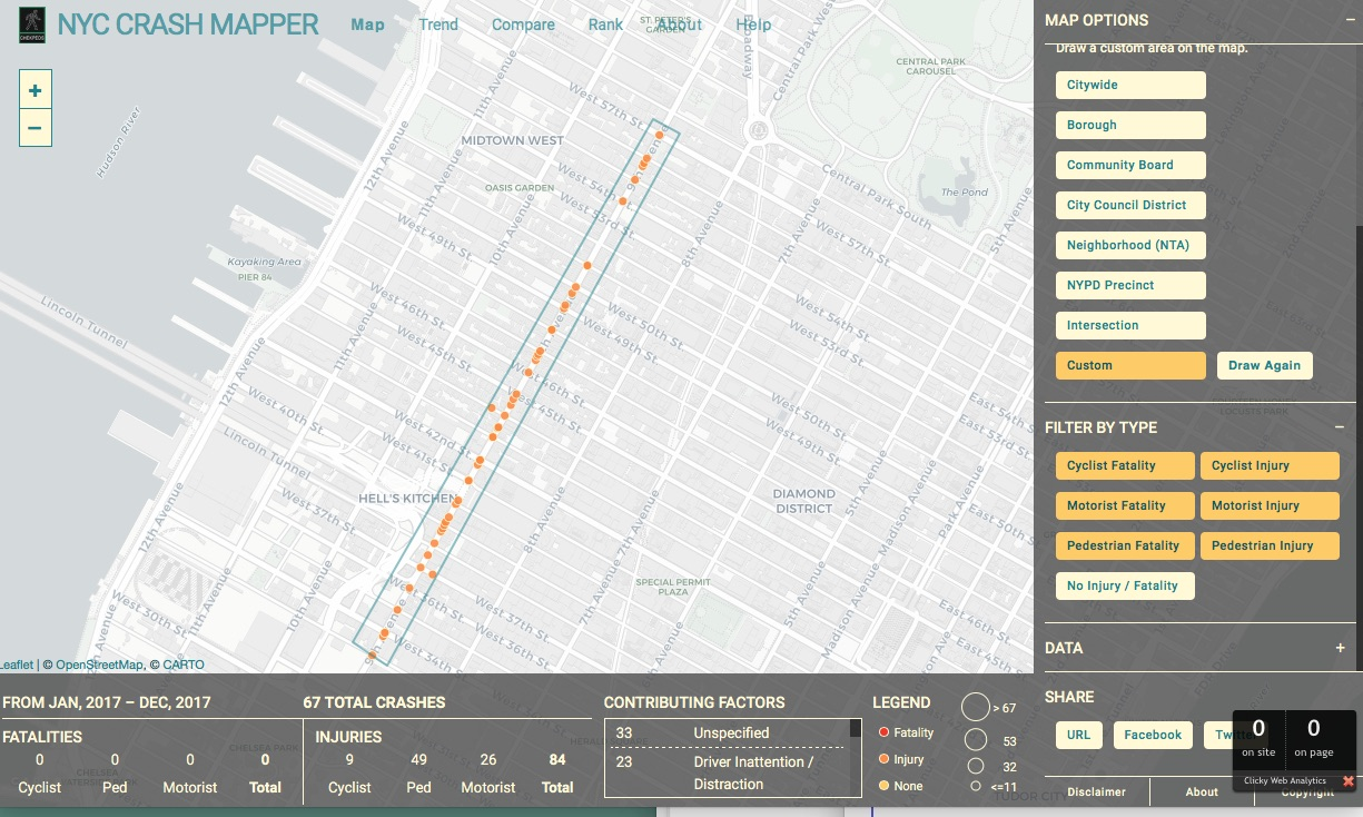 Tracking Traffic Crashes Trends And Vision Zero Progress In New