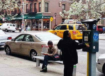 Pedestrian delight: New benches on 10th Avenue | CHEKPEDS